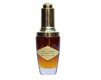 THE WARRIOR - Antiaging Face Oil, Organic Beauty Oil, Antiaging Serum, Wrinkle Serum