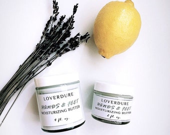 HANDS & FEET - Provitamin B5 added Intensive Aloe Vera Cream, Rich Hand and Foot Cream, For Tired Dry Hands, Cracked Heels, Brittle Nails