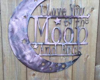 "Love you to the Moon and Back 18"" Diameter"