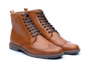 brown leather ankle boots, lace up boots, ankle boots, combat boots men, oxford ankle boots, leather boots men, mens wingtip boots