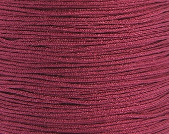 Nylon thread macrame 0.5mm red 15m wound on a roll
