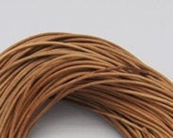 2643XDB 60 lengths 14 Stitched and Reinforced Real Leather Jewelry Cord in Brown Silky Cowhide