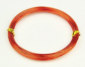 Aluminum wire 1mm dark orange 10m