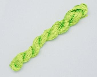 Nylon thread 1mm neon green 24m