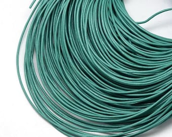 1m leather cord 2mm sea green