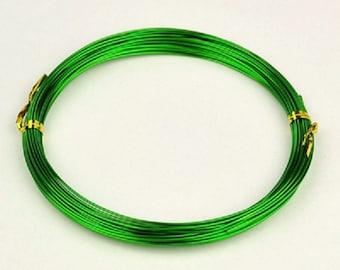 Aluminum wire 1mm green 10m