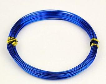 Aluminum wire 1mm dark blue 10m