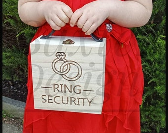 Ring Security Box Wedding Page Boy Flower Girl Walk down the aisle Ring Bearer
