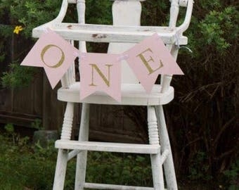 ONE high chair banner