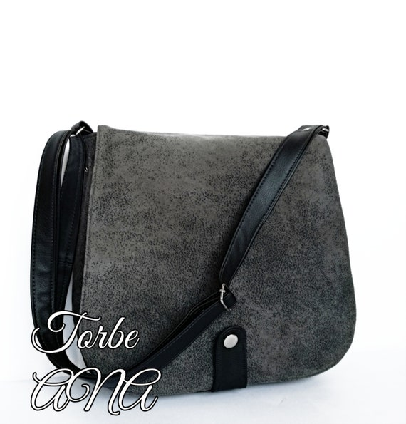 a35e47534f Vegan crossbody bag Messenger bag Women everyday bag Gray | Etsy