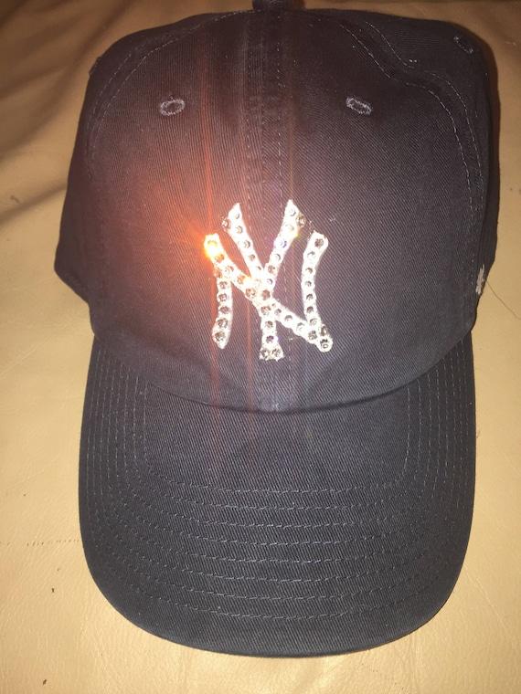 c24ea760eb6 New York Yankees Hat Yankees Hat Bling Yankees Hat Bling