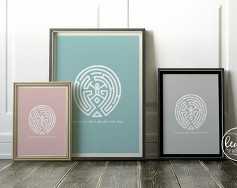 Westworld Print - The Maze   A6/A5/A4/A3 Illustration Print   Westworld TV Poster   For Him, For Her