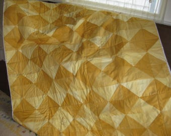 Yellow and Honey Ombre Quilt