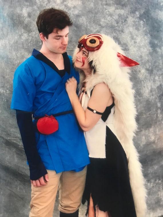 Princess Mononoke Mask Ears Fur Sets Studio Ghibli San Costume Etsy