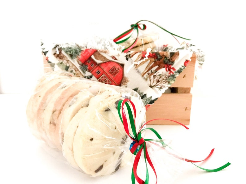 Nut Free Christmas Cookie Gift Box Chocolate Chip Spritz image 0