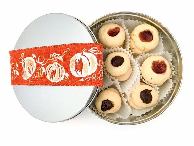 Fall Pumpkin Cookies Assorted Thumbprint Cookies Fall image 0