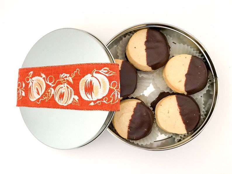 Fall Cookies Thanksgiving Cookies Chocolate Covered Spritz image 0