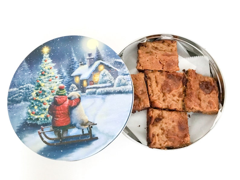 Sweet Bars in a Cookie Tin Christmas Cookie Tin Nut Free image 0