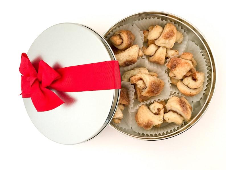 Rugelach Cookies in a Cookie Tin Sugar Cookies Nut Free image 0