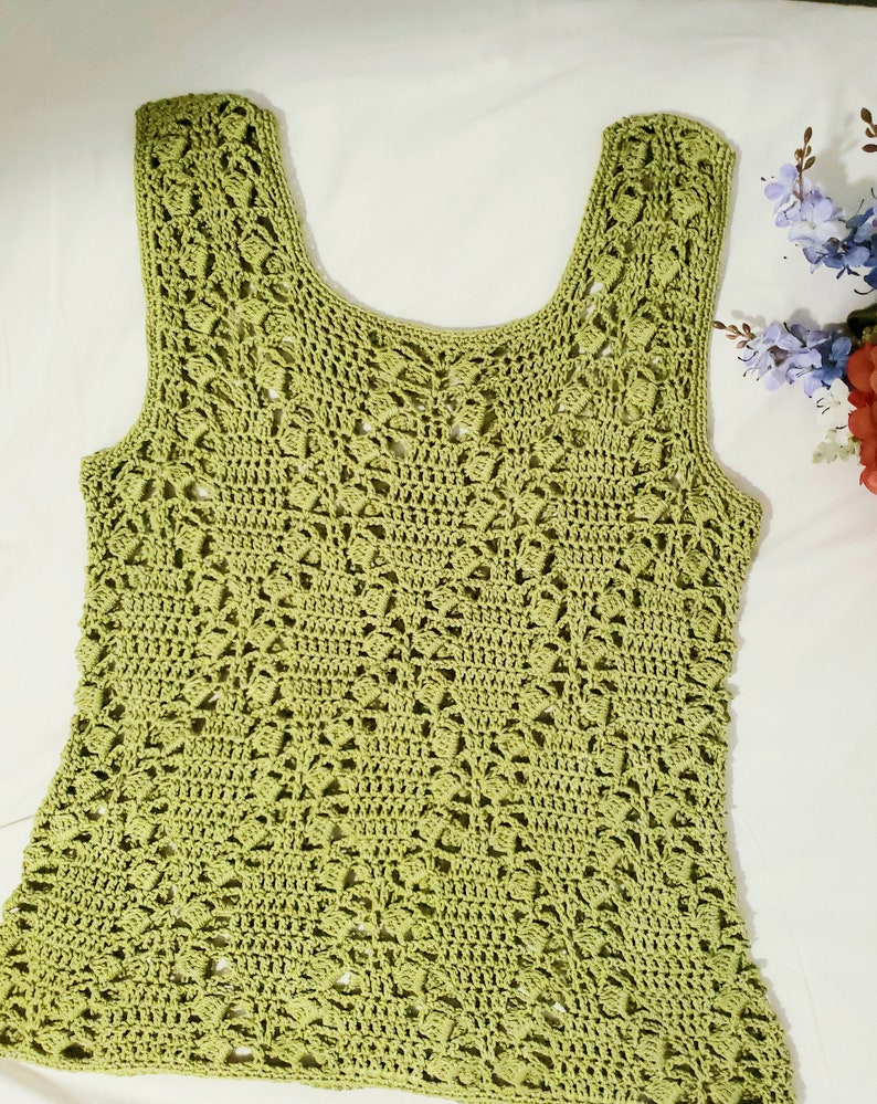 Fantasy Crochet Pattern Summer Ivy  Top size Small to 2XL image 0