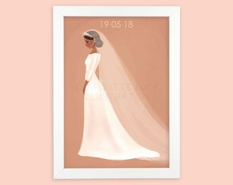 Meghan // Royal Wedding // Art Print //