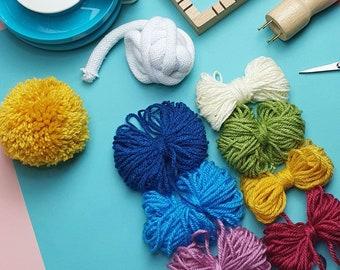 Yarn Pack   Scrappy Acrylic Yarn Pack, Tapestry Yarn, Kids Craft Yarn, Yarn Bundle, Yarn Taster Kit
