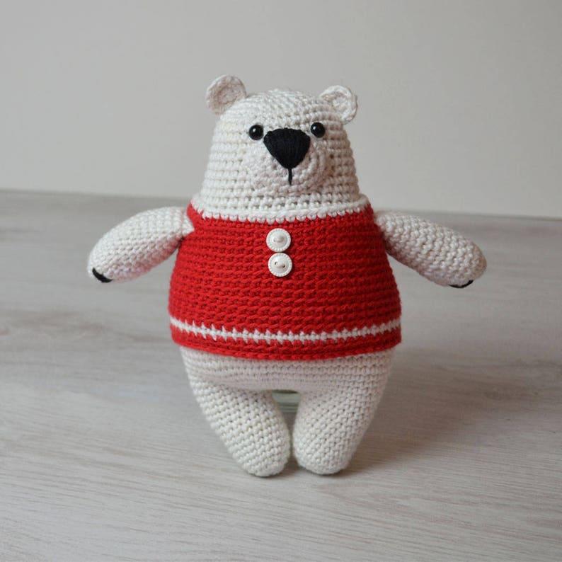 Amigurumi Crochet Pattern  Percy Polar Bear  Crochet Bear  image 0