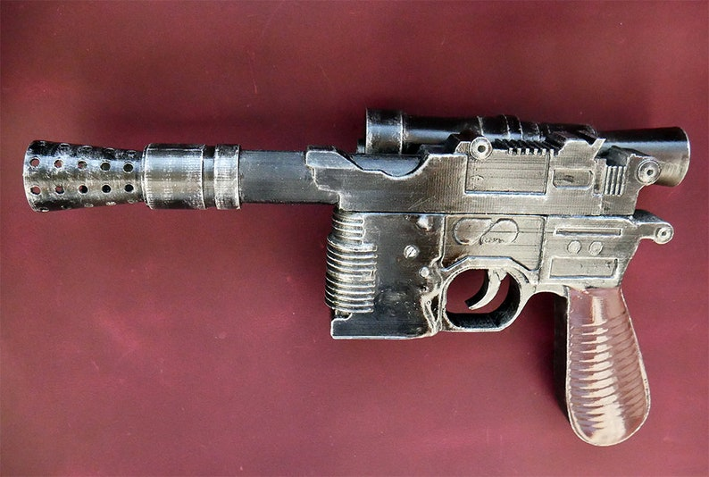 Cosplay pistol Prop Replica 1:1 DL-44  Weathered cosplay prop weapon collections model Men/'s gift Inspired by Han Solo blaster