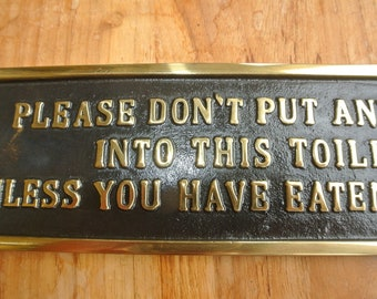 81b55ec033a solid pure brass sign