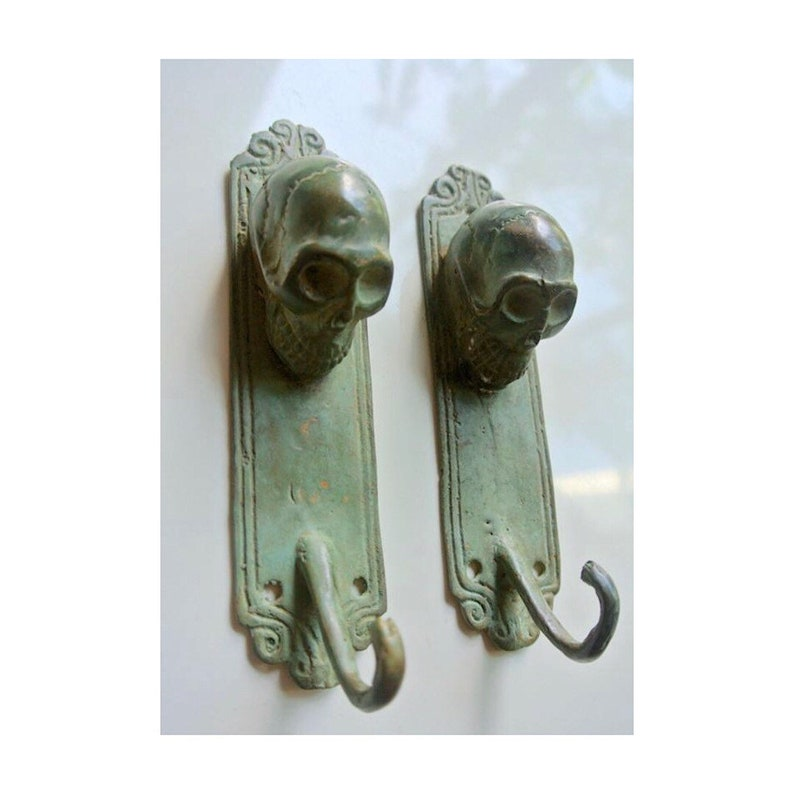 """2 large DOOR handle pulls 32 cm solid engraved brass aged old style 13 /""""B"""
