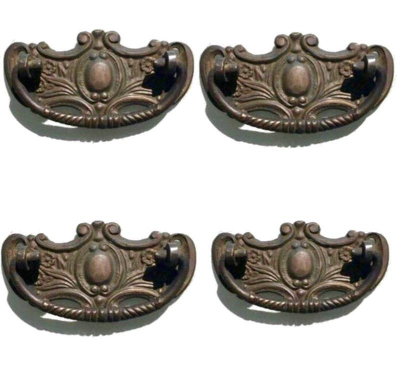 Kitchen Cupboard Door Pull Handle Heavy Oval Solid Knob in Polish Brass 36mm