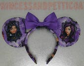 Decendants Inspired Mouse Ears Evie, Mal, Carlos and Jay by PrincessandPetticoat