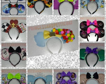 Half + Half (choose 2 designs) Mouse Ears by PrincessandPetticoat
