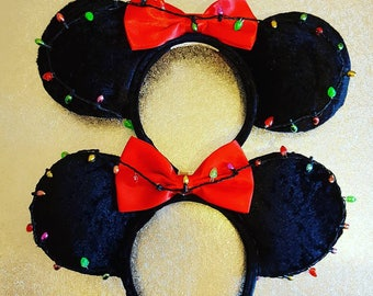 Light up christmas baubles Mouse Ears by PrincessandPetticoat