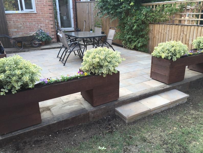 Trough Hand Made Wooden Garden Bench Planter Bed Pot Herb box GP7