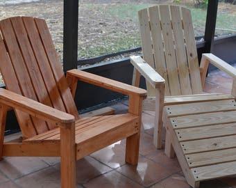 Adirondack Chair | Wood Chair | Patio Chair | Outdoor Furniture | Lawn Chair