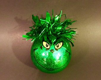 Grinch Ornament, Grinch's Face, Grinch Christmas Ornament