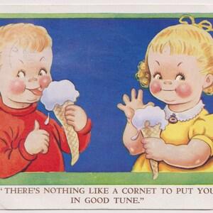 Little Girl pulls Curtain Vera PATERSON 1951 No Letter Vintage Artist Comic Postcard IRON CIRTAIN