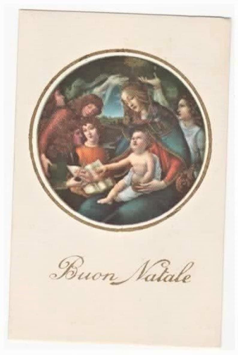 Buon Natale 883.Vintage Italian Christmas Postcard Buon Natale Mary And Baby Jesus Nnm C1940 Unused