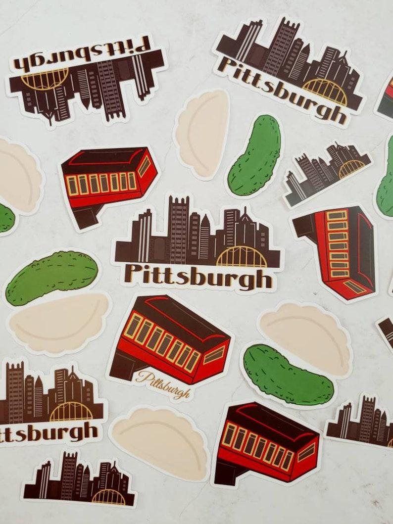 Yinz Mega Super Deluxe Waterproof Vinyl Pittsburgh Sticker Starter Pack Pierogi| PGH | Free Shipping Pickle Full Size Stickers