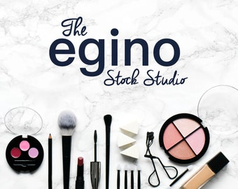 Styled Make-Up Stock Photography - Workspace on Marble