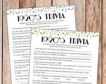 great gatsby bridal shower game great gatsby bachelorette party game 1920s trivia the great gatsby party great gatsby games