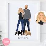 Custom Family Illustration, Digital Custom Family Portrait, Family Portrait, Custom Family Portrait, Custom Illustrated, Family Art Print