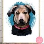 Illustrated Pet Portrait, Dog Portrait, Pet Memorial Portrait, Dog Lover, Unique, Gift For Her, Gift For Him, Custom Christmas Gift, DIGITAL