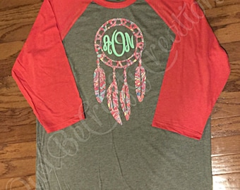 Dream Catcher monogram Raglan t-shirt