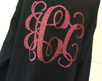 Long sleeve large monogram t-shirt