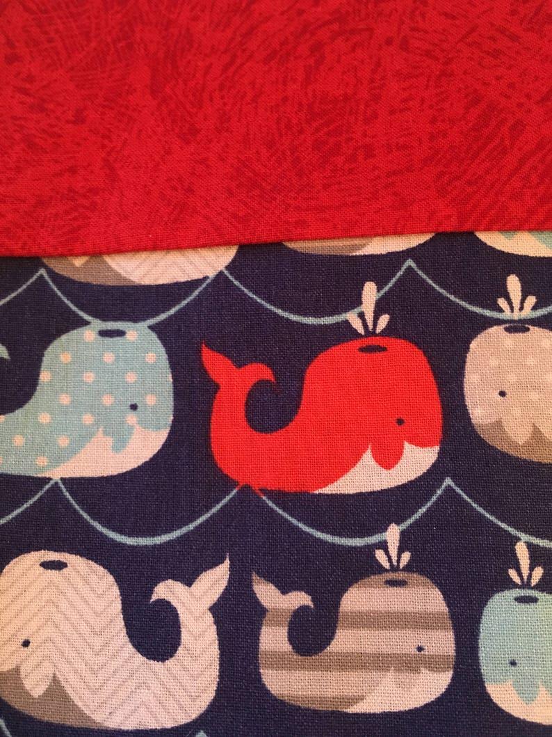 Whales Pillowcase  Patriotic Pillowcase  Nautical Pillowcase  Sea Life Pillowcase  Standard Cotton Colorful Pillowcase  Kids Pillow