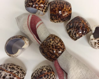 Set of 8 seashell napkin rings | 2 sets available