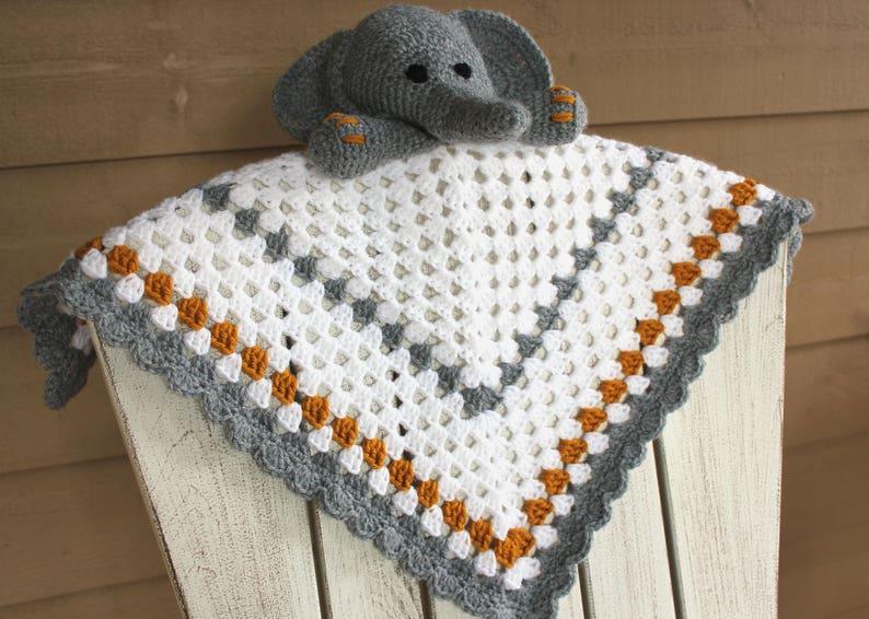 Elephant Lovey: Free Crochet Baby Blanket Pattern | | 566x794