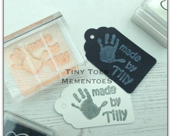 Handmade by .... Personalised Stamp